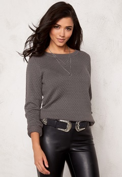 VILA Share knit top Granite Grey Bubbleroom.se