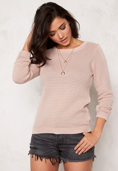 VILA Share knit top Rose Dust Bubbleroom.se
