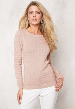 VILA Show Knit Top Rose Dust Bubbleroom.se