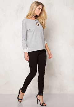 VILA State New Sweat Light Grey Melange Bubbleroom.se