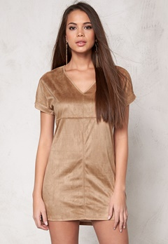 VILA Sue s/s Tunic Dusty Camel Bubbleroom.se