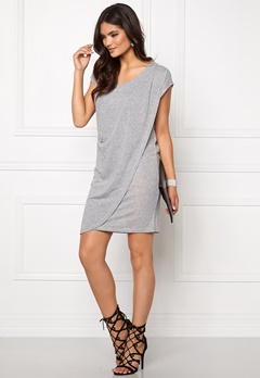 VILA Sumina S/S Dress Light Grey Melange Bubbleroom.fi