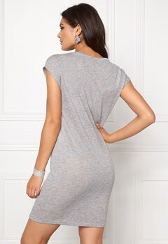 VILA Sumina S/S Dress Light Grey Melange Bubbleroom.se