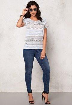 VILA Tika s/s knit top Paloma Bubbleroom.se