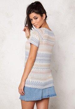 VILA Tika s/s knit top Pink Sand Bubbleroom.se