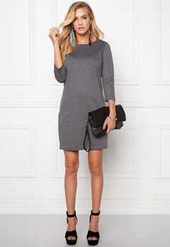 VILA Tinny New Dress Medium Grey Melange Bubbleroom.se
