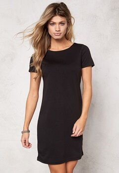 VILA Tinny S/S Dress Black Bubbleroom.se