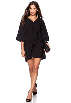 VILA Tyra Tunic Black Bubbleroom.se