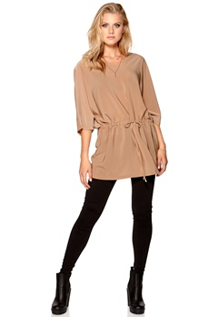 VILA Tyra Tunic Dusty Camel Bubbleroom.se