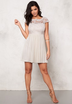 VILA Ulricana Short Dress Moonbeam Bubbleroom.se