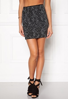VILA Vala New Zigzag Skirt Black Bubbleroom.fi