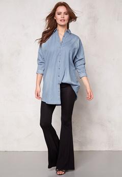 VILA Vu Oversize Denim Shirt Light Blue Denim Bubbleroom.se