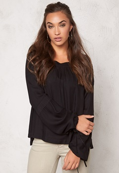 VERO MODA Viola L/S Top Black Bubbleroom.se