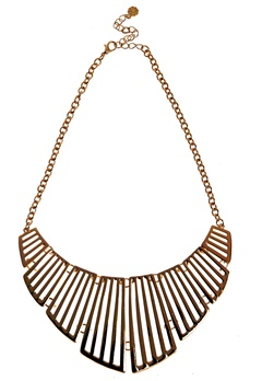 Pieces Vivo Necklace 1 Gold Colour Bubbleroom.se