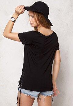 VILA Volcano T-shirt Black Bubbleroom.se
