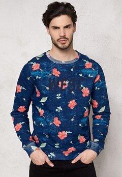 WeSC Martino Sweatshirt Navy Blazer Bubbleroom.se