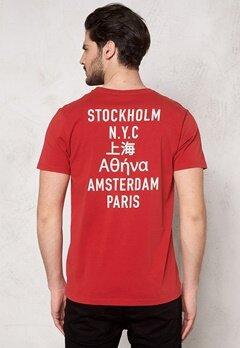 WeSC Monroe s/s T-shirt Pompeian Red Bubbleroom.se