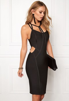 WOW COUTURE Strappy Bandage Shaping Black Bubbleroom.se