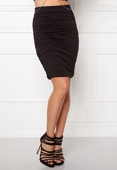 BUBBLEROOM Wrinkled skirt Black Bubbleroom.se