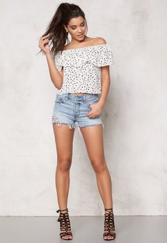 WYLDR Indie summer top Ivory Star Print Bubbleroom.se