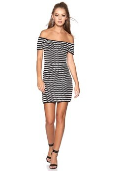 WYLDR Laced In Leather Dress Black/White Bubbleroom.se