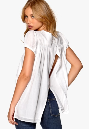 Rich Bitch Triple Cross Tunic White Bubbleroom.se