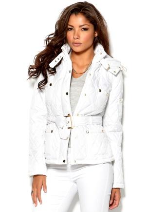 Chiara Forthi Kelsey Quilted Jacket White Bubbleroom.se