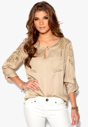 Culture Newt Blouse Beige CPD Bubbleroom.se