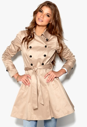 VERO MODA Fairmont Trenchcoat Stocking Beige Bubbleroom.se