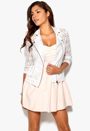 Chiara Forthi Chantal Lace Jacket White Bubbleroom.se