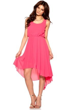 VILA Forest Dress Raspberry Sorbet Bubbleroom.se
