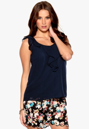 ONLY Sushila Top Twilight Blue Bubbleroom.se