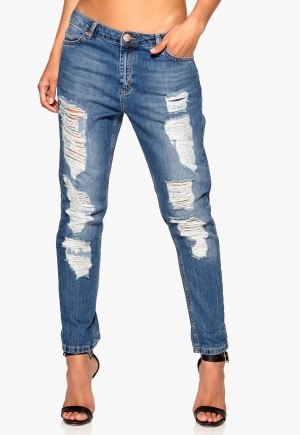 2nd One Lily Jeans Ripped Denim Bubbleroom.se
