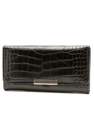 Pieces Sahra Purse Croco Black Bubbleroom.se