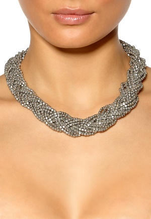 Pieces Danno Necklace Silver Colour Bubbleroom.se