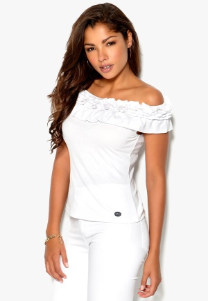Chiara Forthi Anya Off-Shoulder Top White Bubbleroom.se