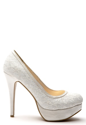 Sugarfree Shoes Stella Shoes White Lace Bubbleroom.se