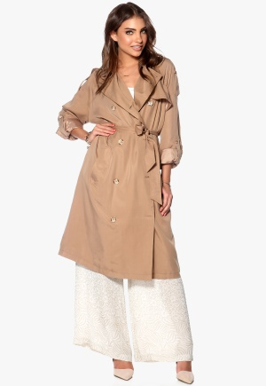 OBJECT Diva Trench Coat Humus Bubbleroom.se