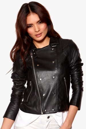 Y.A.S Bono Leather Jacket Black Bubbleroom.se