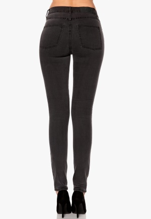 CHEAP MONDAY Second Skin Jeans Stonewash Black Bubbleroom.se