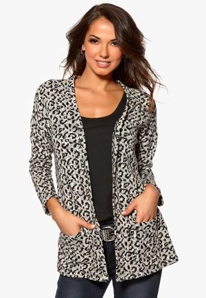 Happy Holly Cardigan Leopard Bubbleroom.se