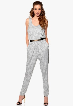 Mixed from Italy Jumpsuit Grey Marl Bubbleroom.se