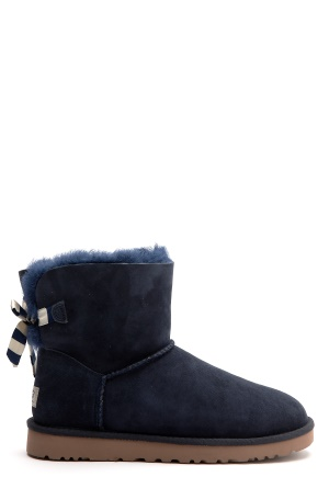 UGG Australia Mini Bailey Bow Navy Stripe Bubbleroom.se