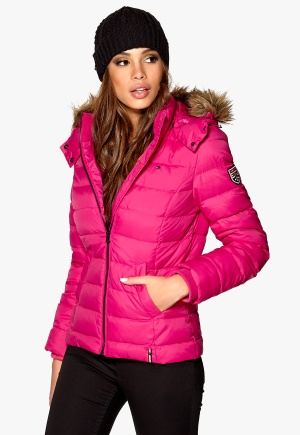 TOMMY HILFIGER DENIM Martina Down Bomber 544 Beetroot Bubbleroom.se