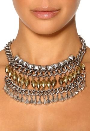 Pieces Lynn Necklace Silver Colour Bubbleroom.se