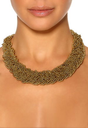 Pieces Elami Necklace Gold Colour Bubbleroom.se