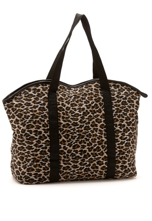 Pieces Leona Net Print Bag Cognac Bubbleroom.se