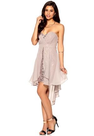 Lipsy Sequin Dress Caramel Bubbleroom.se