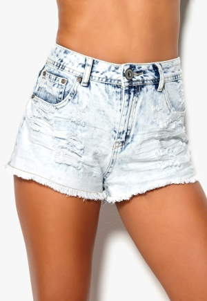 Mixed from Italy Ripped Highwaist Hotpants Acid Wash Bubbleroom.se