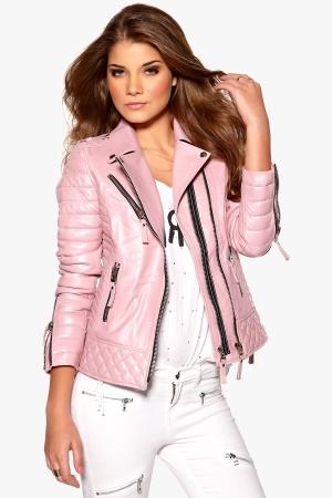 Boda Skins Kay Michael Biker Jacket Pink Shimmer Bubbleroom.se